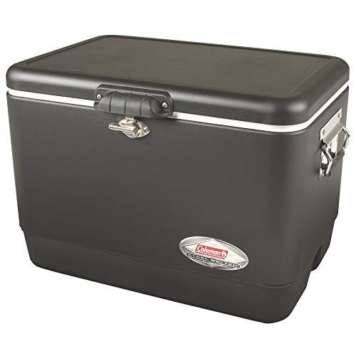Coleman Steel-Belted Portable Cooler, 54 Quart, Black (Renewed)