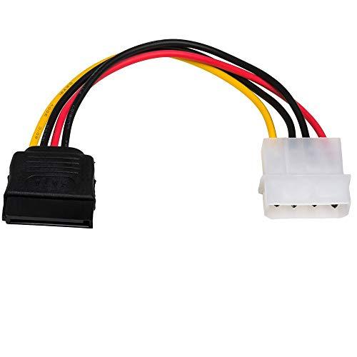 Akyga AK-CA-17 - Cable adaptador (conector Molex macho a conector SATA hembra HDD SSD, 15 cm)