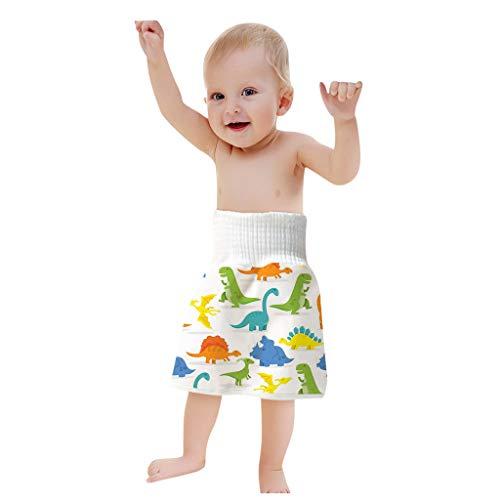 Body Stoffwindeln Bequeme Wiederverwendbare Windel Rock Shorts 2 in 1 Jungen Mädchen Trainingsrock Wasserdichter Windelrock mit Hoher Taille, D, 0-4 Jahre