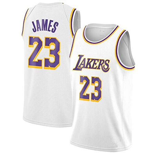 WSZS Los Angeles Lakers 23 Basketball Uniform,Lebron James Summer Sports NBA Jersey,Adult And Children's Basketball Uniforms, Basketball Jersey Top