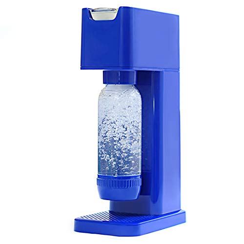 VVA Machine à Gazéifier Bleu Apparence Simple Bouteille Deau 2 * 1L Sodastream One Touch Machine Electrique Eau Pétillante Accueil Pratique Santé Boisson N'inclut Pas Les Bouteilles Gaz
