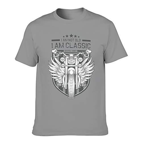 Herren T-Shirt mit Aufschrift 'I Am Not Old I Am Classic aus Baumwolle – Personalisiertes T-Shirt Gr. XXXXX-Large, dunkelgrau