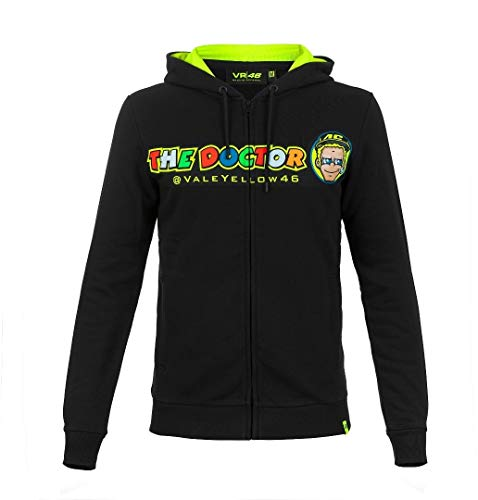 Valentino Rossi Vrmfl305604001 Sweatshirt mit Kapuze Vr46 Herren, Schwarz, L 112 cm / 44in Chest