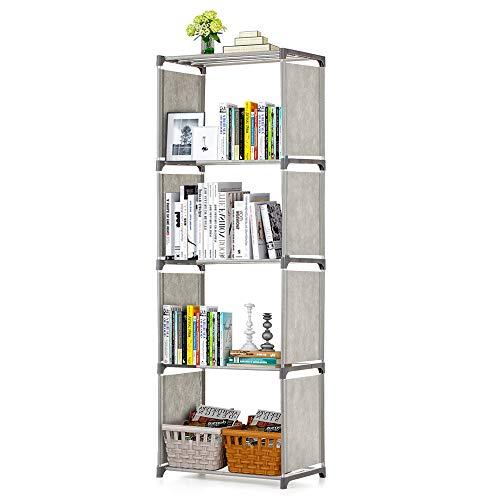 Bedler Estantería de Libros de 5 estantes Estantería de Libros Bandeja de Almacenamiento de Libros Estantería de exhibición de estantería Librero