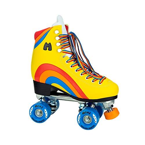 Moxi Rainbow Rider Rollschuhe für Damen, mit lustigem und modischem Design, Gelb, Größe 42