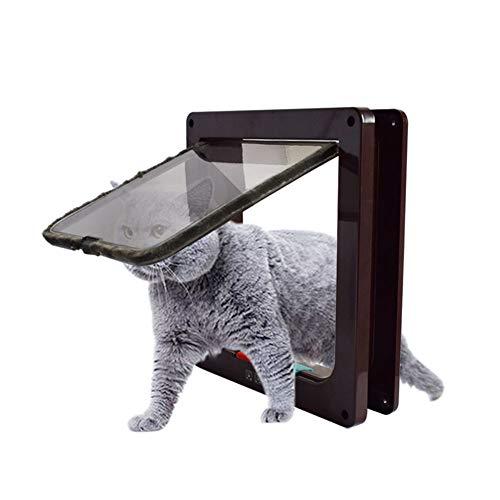 Kicat® 4-Way Locking Cat Flap Cat Door Cat Hole Door
