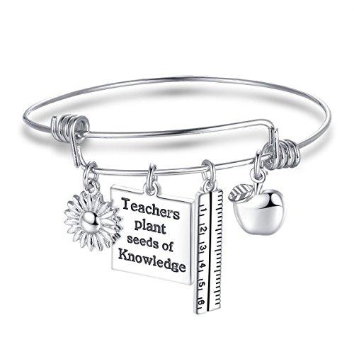 CJ&M - Pulsera personalizada para profesor, regalo para cada profesor, regalo de agradecimiento para profesor