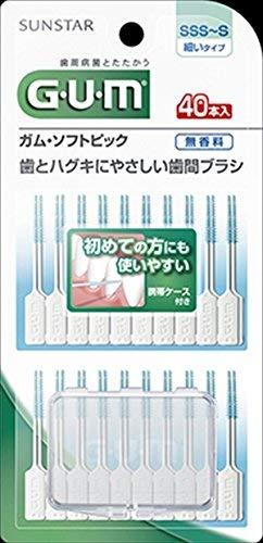 【サンスター】【GUM】ガム・ソフトピック40P無香料[SSS〜S]【40ホン】×60点セット (4901616215634)