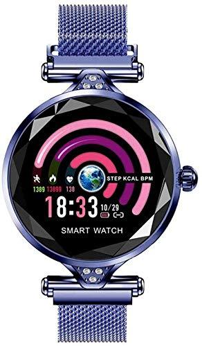 Reloj Inteligente Dispositivo Usable Bluetooth Podómetro Monitor de Ritmo Cardíaco para Android/iOS Pulsera Inteligente Uso Diario-A-C