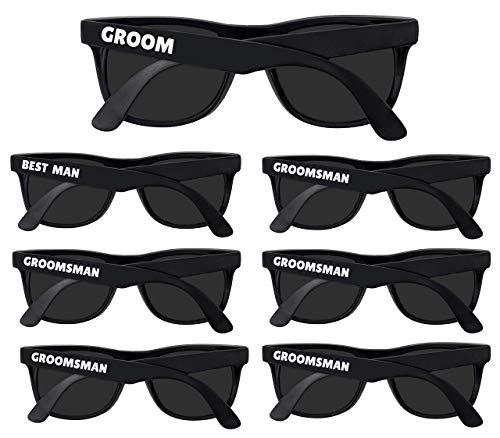 Bachelor Party Supplies - Bulk Wedding Sunglasses for Team Groom. The Groom, Best Man, Groomsman Bachelor Party Favor (7)