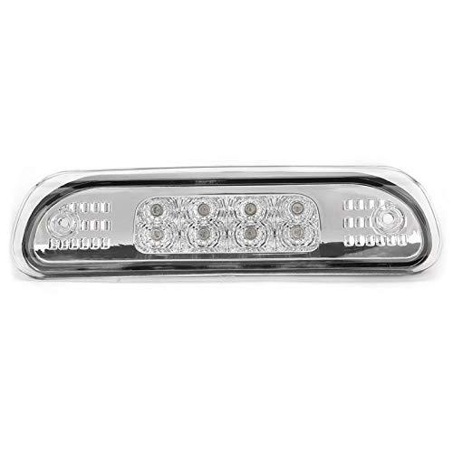 Tercera luz de freno LED de montaje alto, luces de freno 55155140AB, para Jeep Grand Cherokee 1999-2004(blanco)