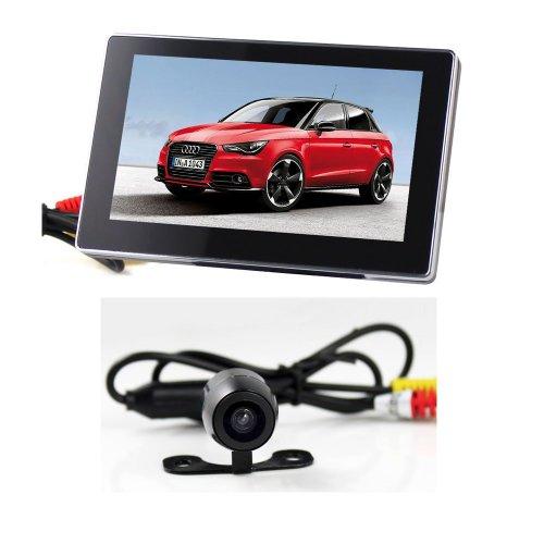 BW® 10,9 cm Super Fin Écran LCD TFT Appareil photo vue arrière pour voiture et fashion sans fil Vision nocturne Caméra de voiture