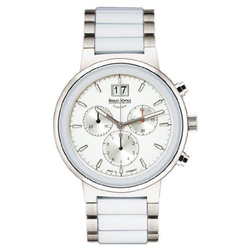 Bruno Söhnle Damen Chronograph Quarz Uhr mit Keramik Armband 17-93133-942