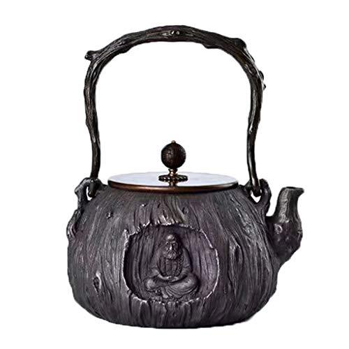 M-CH Teekanne Antike Gusseisen Tetsubin Baum Streifen japanischen Teekessel Gusseisen Teekanne - 1.4L handgefertigt