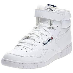 Reebok Men's EX-O-FIT HI Sneaker, White, 10.5 M US