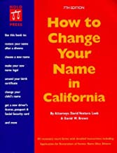 How to Change Your Name in California (7th ed)