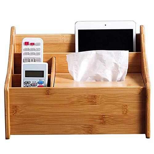 DAGONGREN Caja de pañuelos, Porta pañuelos de Papel para el hogar de Madera de bambú, Sala de Estar, Mesa de té, Cajón de Hotel