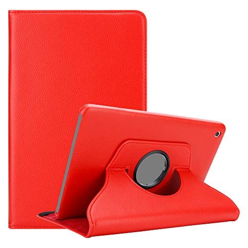 Cadorabo Tablet Hülle für Apple iPad Mini / Mini 2 / Mini 3 in MOHN ROT – Book Style Schutzhülle mit Auto Wake Up mit Standfunktion & Gummiband Verschluss