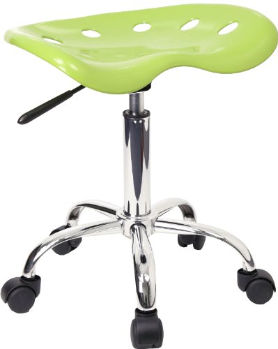 Flash Furniture Vibrant Apple Green Tractor Seat and Chrome Stool