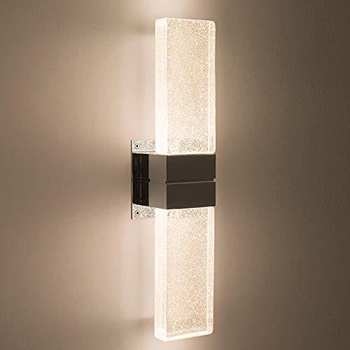 DDZHE Led-wandlamp, met kristallen blok, zwarte vegen gouden lampenkap, uniek lichteffect, voor tentoonstelling, woonkamer, slaapkamer, clubhuis, enz.