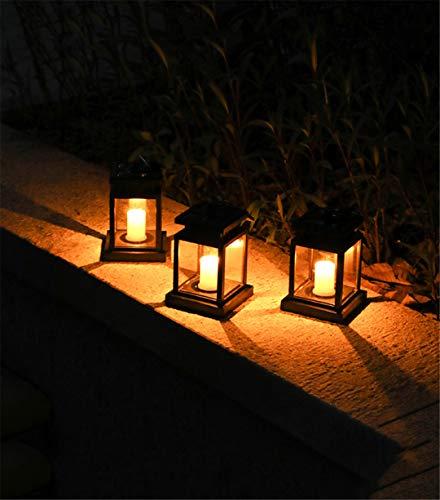 Lámpara de Linterna de Vela centelleante LED con energía Solar para Exteriores, lámpara de jardín para el hogar, luz Intermitente de Llama cálida, Vela Blanca cálida 1 Pieza