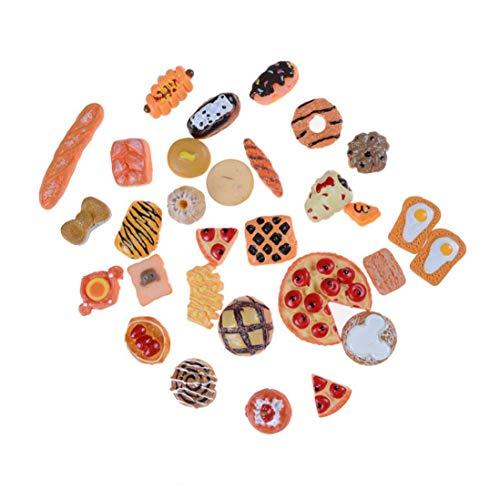 shentaotao 10pcs Mini Juego Lindo Juguete Alimento De La Fruta Torta De La Galleta Donuts En Miniatura para Accesorios De Las Muñecas Cocina De Juguete Juguetes