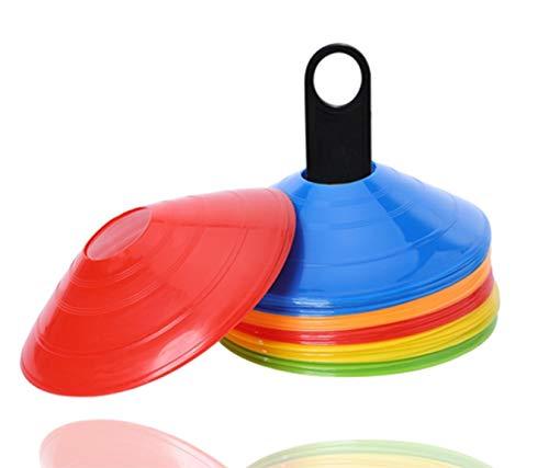 20 coni di marcatura coni per accessori da allenamento slalom e accessori da calcio per calcio, atletica UVM.
