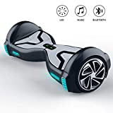 TOMOLOO Hoverboard with Bluetooth Speaker and LED Light, UL2272 Certified 6.5' Two Wheels Electric Self Balancing Hover Boards for Kids and Adult …
