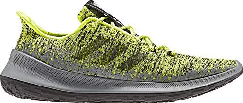 adidas Sensebounce + M - Tenis de correr para hombre, amarillo (Amarillo solar/Gris tres/Core Negro), 42 EU