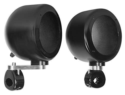 2 Rockville MAC40B 4' Black Swivel Aluminum Tower/Handlebar Speaker Pods ATV/UTV