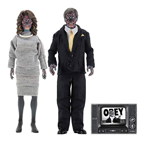 NECA They Live: Aliens 8 Inch Retro Action Figure 2 Pack