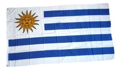Flaggenking Uruguay Flagge/Fahne - wetterfest, mehrfarbig, 150 x 90 x 1 cm