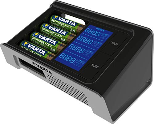 VARTA LCD Ultra Fast Ladegerät für bis zu 4 AA/AAA (inkl. 4x AA 2500 mAh) schwarz (Design kann abweichen)