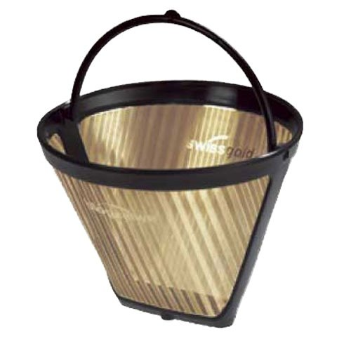 SwissGold KF2 Kaffeefilter, wiederverwendbar, kegelförmig, 2-6 Tassen