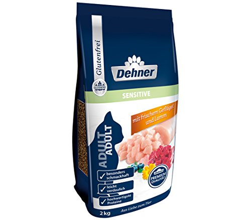 Dehner Premium Katzentrockenfutter Adult Sensitive, Geflügel und Lamm, 2 kg