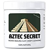 Aztec Secret Healing Clay, Neu Verbesserte Formel mit Klinoptilolith-Zeolith, Reinigende Vulkanerde gegen Pickel und fettige Haut, Porentiefe Reinigung, 100% Natürlich