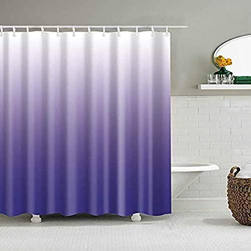 YULUOSHA Duschvorhang, modernes Design, mit Blütenblättern, wasserdicht, waschbar, 183 x 183 cm, Violett