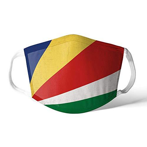 M&schutz Maske Stoffmaske X Groß Afrika Flagge Seychellen/Seychellen Wiederverwendbar Waschbar Weiches Baumwollgefühl Polyester Fabrik