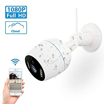 Security Camera Outdoor,1080P HD WiFi Wireless Cameras for Home Security System - 360 Waterproof Bullet Surveillance IP Cameras with Sensori Night Vision Alert Cloud Pan/Tilt