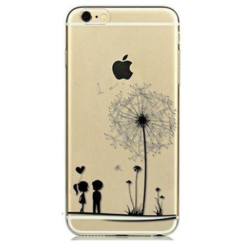 POEGO iPhone 5 / 5S / SE weiche Silikon TPU Schutzhülle Cover Hülle Etui Transparent Ultra Dünn mit Motiv Baum / Pusteblume