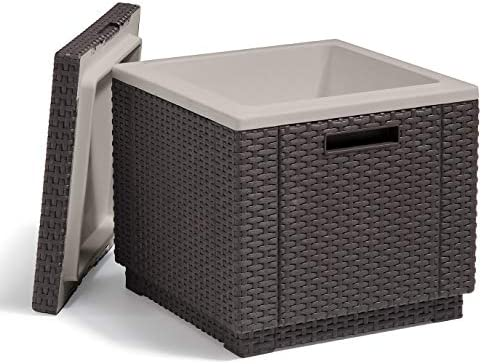 Keter Ice Cube Beer and Wine Cooler Table Perfect for Your Patio Picnic and Beach Accessories product image