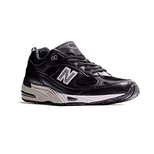 New Balance 991 Made in England Leather Pack M991LKS Black (US 9.5 - Black)