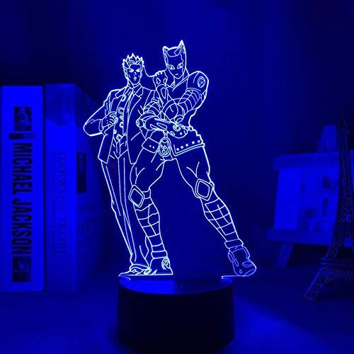 JoJo 2021 - Lámpara de noche LED para decoración de dormitorio, diseño de anime Waifu