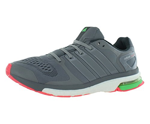 Adidas Hombre Adistar Boost Chill Zapatos para Correr (Gris, Verde Flash) Sz. 9