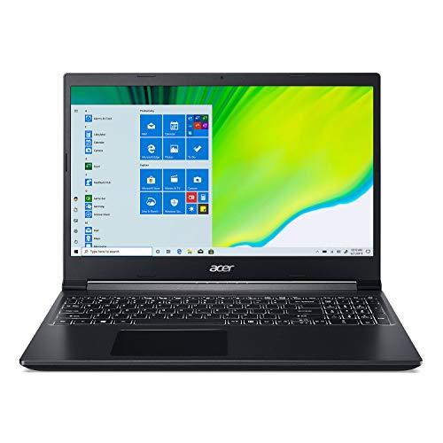 Acer Portátil Aspire 7, pantalla IPS Full HD de 15,6 pulgadas, Intel Core i5-9300H, NVIDIA GeForce GTX 1650, 8GB DDR4, 512GB NVMe SSD, teclado retroiluminado, Windows 10 Home, A715-75G-544V