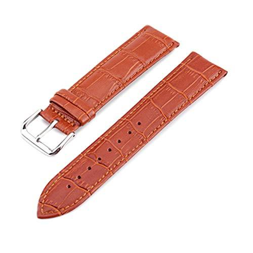 Reloj de Cuero de la Correa de Cuero de 10-24mm de liberación rápida Correas de Reloj Marrón Claro, 10mm