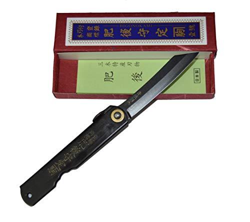 Higonokami Klappmesser Taschenmesser Warikomi Japanisches handgefertigtes All Black Handgefertigt in Japan von Nagao Kanekoma