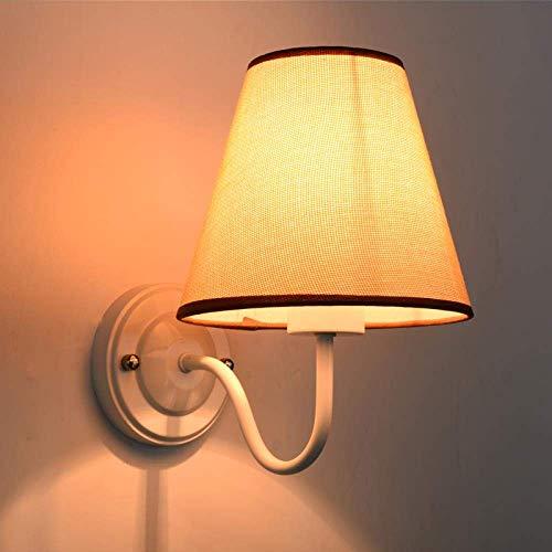 Apliques Pared Lámpara de pared Led nórdico pared del dormitorio de la lámpara de noche Sala de estar Sofá simple habitación de los niños rural moderna con el interruptor de pared Lámpara colgante, bl