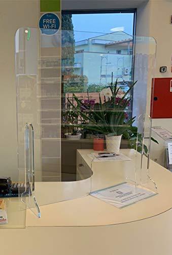 PROTEGGIMI - Protezione in plexiglass da banco anti droplet, parasputi e parafiato