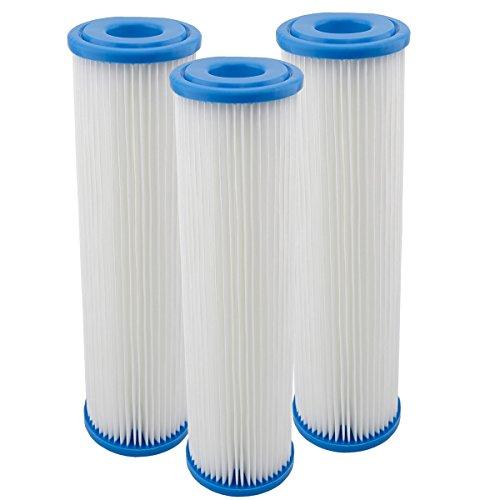 """Filtereinsatz 10\""""(251mm) Filtergehäuse Filterkartusche für Pumpenfilter Hauswasserwerke Vorfilter Wasserfilter Sandfilter Filter Membran Polypropylen Faltenfilter (3)"""